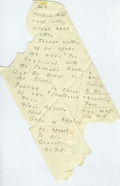 Emily Dickinson, We Talked With Each Other About Each Other, c. 1879, Amherst Manuscript #514. Pencil on Envelope