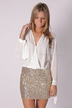 farrah sequin cocktail - white/gold. Ordering this when the next paycheck rolls around
