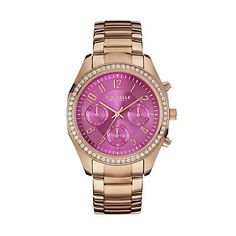 Caravelle New York by Bulova Women's Rose Gold Tone Stainless Steel Chronograph Watch