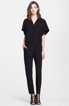 Women's IRO 'Oz' Crepe Jumpsuit, Size 10 US / 42 FR - Black