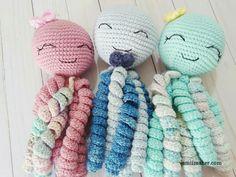 Passo a passo de amigurumi gratuito. Polvo soninho. Visite amiimaker.com para baixar o PDF! Free amigurumi pattern. Preemie Crochet, Crochet Toys, Crochet Baby, Free Crochet, Chrochet, Knit Crochet, Crochet Fish Patterns, Amigurumi Patterns, Newborn Toys