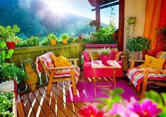 Soczysty i kolorowy taras. Idealny na lato!