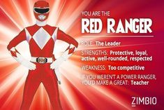 I took Zimbio's Power Ranger quiz and I'm the Red Ranger! Who are you?null - Quiz