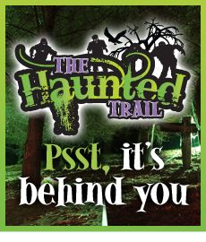 Spooky happenings on the haunted trail at Frightwater Valley!