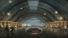 architecture de gratte-ciel moderne musée de vues avenir de la future bibliothèque