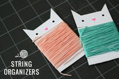 Little White Whale | DIY string organizers