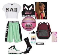 """""""Basketball season starting"""" by yahiness ❤ liked on Polyvore featuring NIKE, Retrò, Topshop, Spalding, Victoria's Secret and Casetify"""