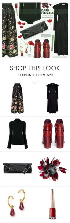 """Winter Prints: Dark Florals"" by katarina-blagojevic ❤ liked on Polyvore featuring Alice + Olivia, Robert Rodriguez, E L L E R Y, Mercedes Castillo, Christian Louboutin, Marni, Bloomingdale's, Urban Decay and darkflorals"