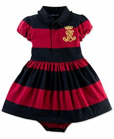 Ralph Lauren Baby Girls Dress, Baby Girls Rugby Dress - Kids Baby Girl (0-24 months) - Macy's