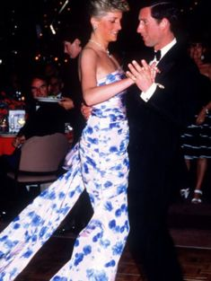 HRH Prince and Princess of Wales dancing in Melbourne Australia 1988