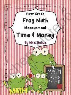 First Grade Math {Frog Math} Time and Money product from Mrs-Balius on TeachersNotebook.com