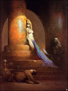 Egyptian Queen by Frank Frazetta...A tear runs down my cheek everytime I see this piece..its exquisite and precious to me.