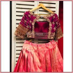 Blouse Designs High Neck, Fancy Blouse Designs, Wedding Saree Blouse Designs, Half Saree Designs, Stylish Blouse Design, Lehenga, Sarees, Work Blouse, Bespoke