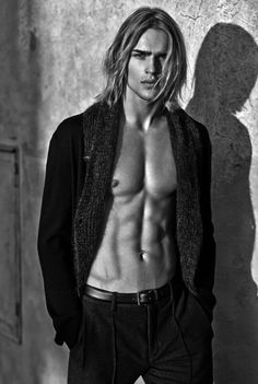 Long hairstyle and style. Ton Heukels