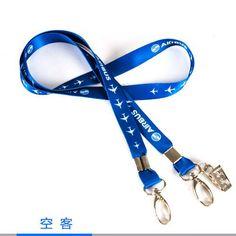 Airbus / Boeing Logo Lanyard Blue Sling Belt Simple Design