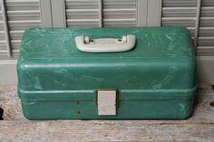 Jade Green Bakelite Tool Tackle Box by BeachLaneVintage on Etsy