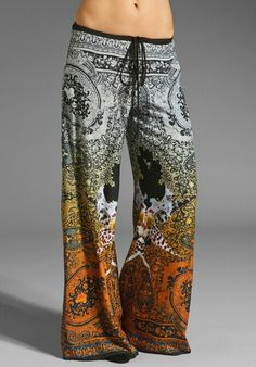 CLOVER CANYON Ombre Paisley Pant in Multi at Revolve Clothing. Wouldnt have the courage to wear that print in public, but looks sooo comfy. Mode Style, Style Me, Paisley, Hippie Party, Look Fashion, Womens Fashion, Gypsy Fashion, Gothic Fashion, Estilo Hippie