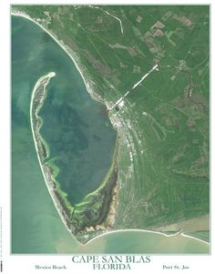 Cape San Blas Aerial Photo Poster Map