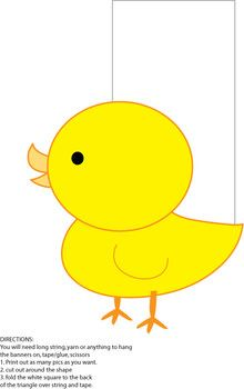 Yellow Chick Banner - Party Decorations