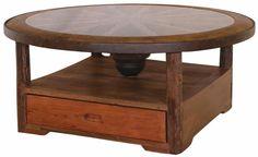 Reclaimed Teakwood Furniture Desperado Glass Coffee Table