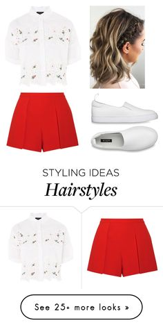 """Untitled #767"" by weirdzebra on Polyvore featuring Alice + Olivia and Topshop"