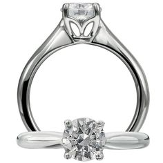 This is a great ring from #AGSMember #Ritani simple tulip setting instead and still love it :-)  #AmericanGemSociety  @pinterest.com/amergemsociety/