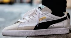 PUMA Basket Returns in Monochromatic Colorway Sneakers Mode, Puma Sneakers, Dress With Sneakers, Sneakers Fashion, Skater Outfits, Adidas Shoes Women, Nike Shoes, Athleisure, Outfits