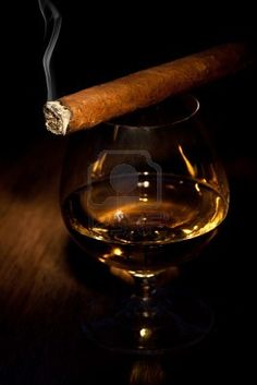 cognac and cigars....This won't make any sense, I don't drink and I don't smoke, but there is something romantic, sexy, something about a cigar and cognac or whiskey.