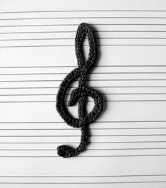 Musical Notes Applique Crochet Pattern | YouCanMakeThis.com