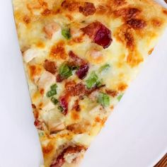 Jun 2019 - Chicken Alfredo Pizza will rock your pizza night! Topped with cubed chicken, bacon, and cheesy alfredo sauce, this is a pizza you will want to make again and again! Vegetable Pizza Recipes, Mushroom Pizza Recipes, Chicken Pizza Recipes, Chicken Bacon, Homemade Chicken Alfredo, Chicken Alfredo Pizza, Bacon Pizza, Pizza Pizza, Pizza Party