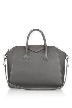 Givenchy|Medium Antigona bag in gray leather|NET-A-PORTER.COM