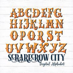 Uppercase Alphabet, Hand Lettering Alphabet, Cool Fonts Alphabet, Decorative Lettering, Alphabet Stencils, Calligraphy Letters, Halloween Letters, Halloween Fonts, Halloween Design