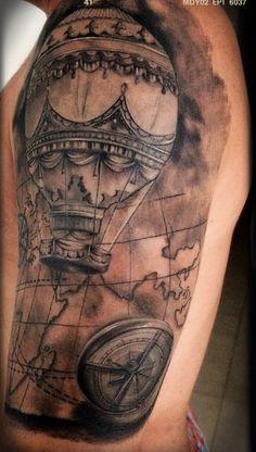 #Tattoo - hot air balloon