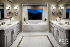 Epic Homes builds new homes in Arvada and Broomfield Colorado. We are committed to building your home with the passion you have for living there. Broomfield Colorado, Arvada Colorado, Colorado Homes, Corner Bathtub, Double Vanity, Creative Business, Building A House, New Homes, Interior Design