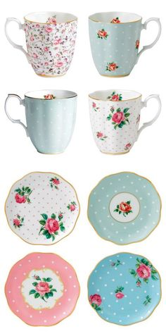 The Bowl Company, USA... Tea Mug and Saucer sets~