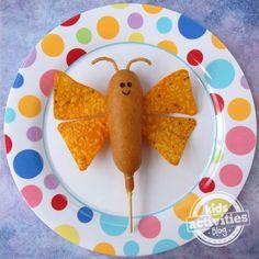 Corn Dog Butterfly - Kids Activities Blog