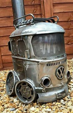 What a cool...ok HOT...woodburning stove!