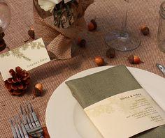 Olivia - Pine tree letterpress wedding invitation | Invitations by Ajalon | http://www.invitationsbyajalon.com/