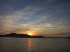 Sunset in Langebaan on the West Coast of Cape Town