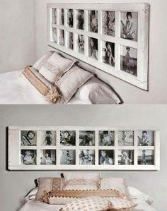 Si tu cama no tiene cabecero ni te preocupes, te traemos una grandiosa idea donde las fotos tendrán protagonismo, anímate y dale estilo a tu habitación.