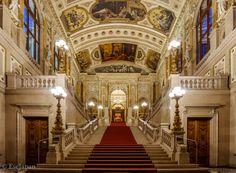 Burgtheater Windsor Castle, Vienna Austria, Stairs, Stairways, Staircases, Stairway
