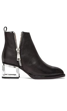 Jeffrey Campbell Boone Bootie in Black & Silver