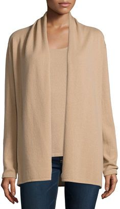 Neiman Marcus Cashmere Collection Modern Cashmere Open Cardigan - Shop for women's Cardigan