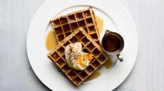 Coffee-Flavored Belgian Waffles If you don't have a Belgian waffle iron, use a regular one, but you probably won't need as much batter. Belgian Waffle Iron, Belgian Waffles, Belgian Food, Brunch Recipes, Breakfast Recipes, Brunch Ideas, Breakfast Ideas, Breakfast Time, Sweet Recipes