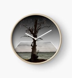 Old Aussie Gum Tree, Dimensional PopOut Art Clock