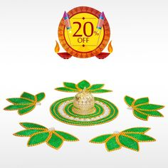 Order Authentic #LotusKundanRangoli  with LED Diya this #Diwali and make the celebration more special. Get 20% off on all Diwali festival items. Hurry Up! Limited Offer!  #BringHomeFestival