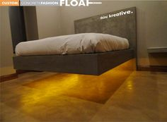 floating concrete bed | projects@floatdesign