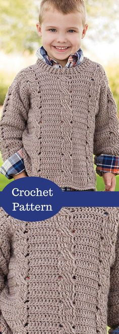 Triple Twist Pullover Crochet Pattern. Kids Sweater Crochet Pattern - Crochet Pattern is available for download after purchase. #ad