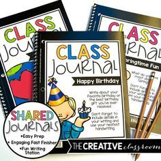 Class Shared Journals are great for writing stations or engaging fast finishers for any grade level.
