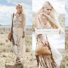 Get this look: http://lb.nu/look/7591258  More looks by Sarah Loven: http://lb.nu/sarahloven  Items in this look:  Anna Sui Kimono, Banjara Fringe Crop Top, Le Salty The Label Pants, Flog Gs Sandals, Midnite Leather Goods Fringe Bag, Poatri Necklace   #artistic #bohemian #romantic